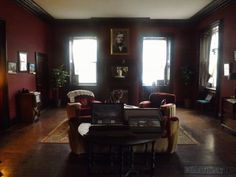 As was popular during the Victorian era, in the same style as the remodeled rooms that flank the front entrance.
