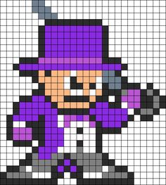 Penguin Batman perler bead pattern