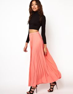 | River Island Pleated Maxi Skirt