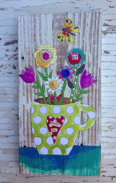 Mothers Day Gift Floral Mixed Media Springtime on Etsy, $52.00