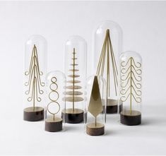 brass forest tree se, unconventional design christmas ideas