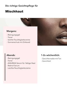mischhaut proper face care step by step combination skin routine Wedding Bouquet: How To Make The Ri Sleek Make Up, Face Care Routine, Skin Routine, Haut Routine, Facial Cleansing, Clean Face, Facial Care, Combination Skin, Makeup Eyes