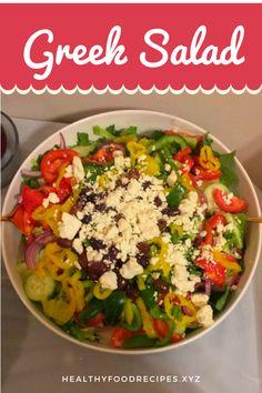 Greek Salad In Spanish, Greek Salad Bar, Greek Salad Kabobs, How Many Carbs In Greek Greek Yogurt Salad Dressing, Yogurt Salad Dressings, Greek Chicken Salad, Greek Quinoa Salad, Greek Salad Pasta, Easy Greek Salad Recipe, Greek Salad Recipes, Healthy Salad Recipes, Salad Toppings