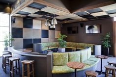 Hippo Creek restaurant in Waterford, Perth. Seating in Florence Broadhurst Fingers Persian #materialisedfabrics #fabricsfortherealworld #performancefabrics #restaurantdesign #florencebroadhurst