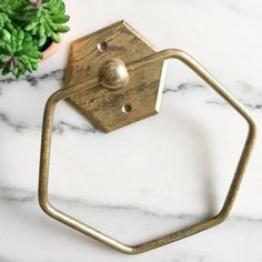 Excited to share the latest addition to my #etsy shop: Towel Ring Holder, Bathroom Decor, Remodel, Shabby Chic, Hexagon Metal Ring Towel Holder #bathroom #housewares #castiron #moving #bathroomremodel #springdecor #homeliving #shabbychic #toiletpaperholder
