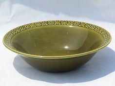 connemara vintage 'irish erin' green pottery serving bowl
