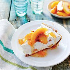 No-Bake Peach Pie | MyRecipes.com