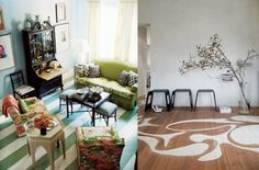 Living-Rooms-With-Painted-Floor