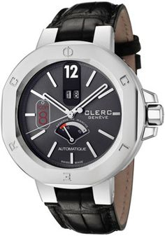 Clerc   Men's Icon 8 Automatic Black Dial Black Genuine Crocodile    Style: I8RMA17-BLACK