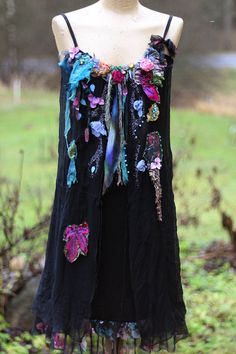 RESERVEDAutumn fairy bohemian shabby chic tunic or dress