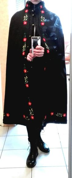 Embroidered cape with folk Polish flowers~ For sale (pm me) 45$