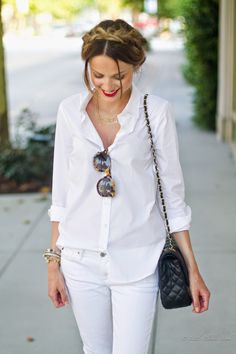Dear Stitch Fix Stylist: White on white! Casual Chic, Boho Chic, White Casual, Mode Ab 50, Estilo Street, Spring Summer Fashion, Passion For Fashion, Style Me, Style Blog