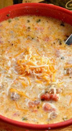 Crock Pot Low-Carb Taco Soup *yummy, yummy... I used 1/2 turkey sausage and 1/2 ground turkey instead!* So delicious!!! Highly recommend Low Carb Tacos, Low Carb Taco Soup, Keto Taco, Keto Foods, Ketogenic Recipes, Low Carb Recipes, Ketogenic Diet, Keto Meal, Diabetic Recipes