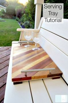Wood Projects Scrap Wood Serving Tray Tutorial - A DIY Serving tray is a perfect item to add your idea list for hostess gifts. Woodworking Projects That Sell, Popular Woodworking, Woodworking Crafts, Woodworking Plans, Woodworking Furniture, Woodworking Techniques, Wood Projects That Sell, Woodworking Machinery, Woodworking Shop