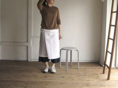 col.WHT / model.155cm / pants.IR-P-150008(col.NVY)