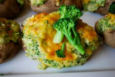 Twice baked stuffed potato with broccoli and cheddar #HudsonValley #catering #to go #take out