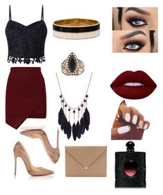 """""""Fly Me To The Moon """" by maria-plx on Polyvore featuring Christian Louboutin, Alexander Wang, Lipsy, Lime Crime, Yves Saint Laurent and Kate Spade"""