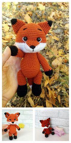 Amigurumi Small Fox Free Pattern – Kostenlose Amigurumi-Muster - My CMS Crochet Fox Pattern Free, Lion Crochet, Crochet Amigurumi Free Patterns, Crochet Animal Patterns, Stuffed Animal Patterns, Cute Crochet, Crochet Dolls, Amigurumi Fox, Doll Patterns Free