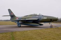 A nicely painted Danish Air Force Republic RF-84F Thunderflash.