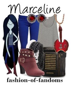 """""""Marceline"""" by fofandoms ❤ liked on Polyvore featuring Firetrap, Iris & Ink, Rare London, Jennifer Lopez and Rosa Maria"""