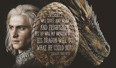 Viserion, dragon of Daenerys Targaryen, named for her brother Viserys