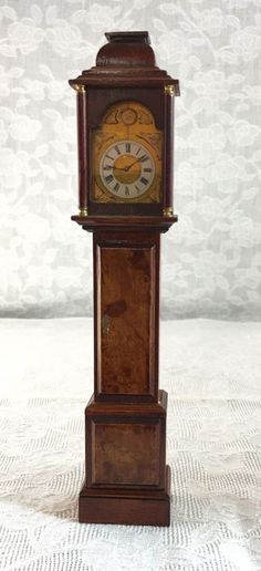 Dollhouse Miniature Artisan Dennis Jenvey Hand Made Grandfather Clock Rare Item #DennisJenvey