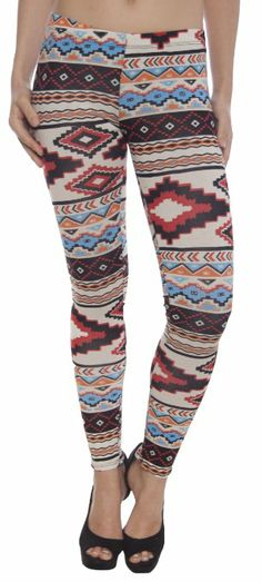 Lucky 21 Women's Ankle Length Aztec Print Leggings: Clothing @ Amazon!