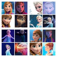 Faces of anna and elsa. Anna was so adorable and awkward!