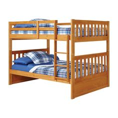 Have to have it. Pine Ridge Mission Full over Full Bunk Bed - $559.97 @hayneedle
