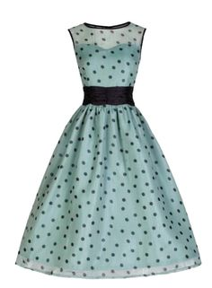 pretty polka dot dress vintage, edited by franceseattle