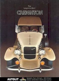 1981 Creighton Bremen Ford Pinto Kit Car Sales Brochure