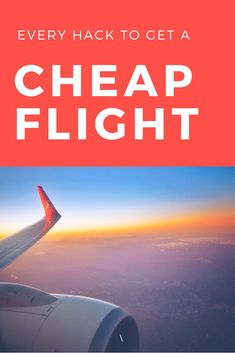 Ive compiled a list of every cheap flight hack I could ever find into this one resource for you to use. It shows you how to get a cheap flight anywhere in the world and every trick you can use to lower your flight costs. See it here.