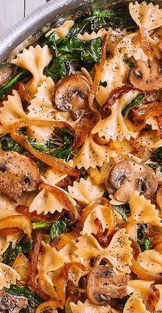 Farfalle Recipes, Farfalle Pasta, Pasta Recipes, Dinner Recipes, Cooking Recipes, Dinner Ideas, Tortellini Pasta, Dinner Menu, Yummy Recipes