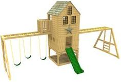 large wooden swing-set plan