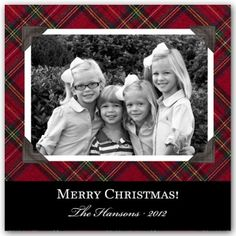 Great tartan Christmas card at Paperstyle