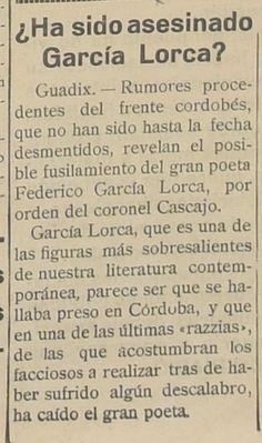 ¿Por qué García Lorca 'murió' primero en Albacete? | El Independiente de Granada Dont Disturb, Teaching Spanish, Writing, History, Amazing, Quotes, Peace Education, Qoutes, Historia