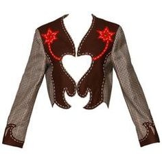 Moschino Vintage Cowgirl Western Jacket with Cut Out Heart + Spurs Applique