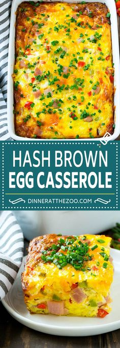 Hash Brown Egg Casserole Recipe Breakfast Casserole with Ham Hash Brown Casserole Ham and Egg Casserole Egg Casserole with Ham Hash Brown Egg Casserole, Ham Casserole, Hashbrown Breakfast Casserole, Casserole Recipes, Egg And Veggie Casserole, Casserole Dishes, Ham And Eggs, Brunch Recipes, Breakfast Recipes