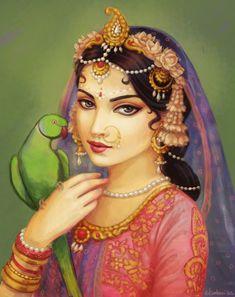 radha-and-suka by Nilambari dasi)
