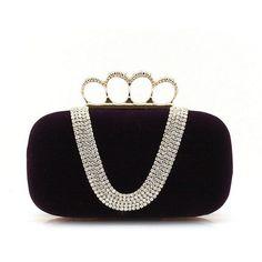 cd9db95ff7e2 2013 New Luxury Clutch Evening Bags Fashion Ladies  Skull Rings... ❤ liked