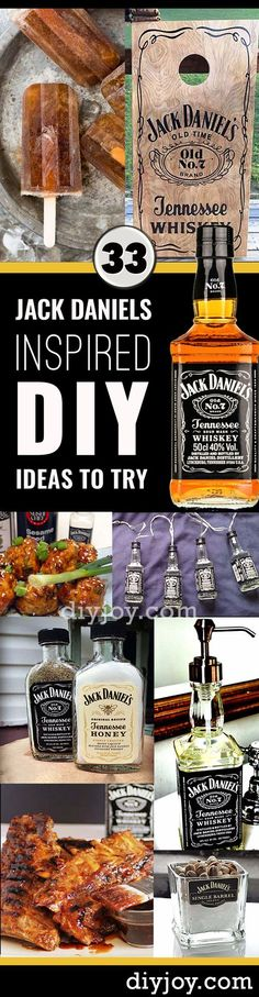 33 Brilliantly Creative DIY Ideas Inspired by Jack Daniels, Diy And Crafts, Fun DIY Ideas Made With Jack Daniels - Recipes, Projects and Crafts With The Bottle, Everything From Lamps and Decorations to Fudge and Cupcakes Bebidas Jack Daniels, Festa Jack Daniels, Jack Daniels Party, Jack Daniels Gifts, Jack Daniels Bottle, Jack Daniels Decor, Bottle Crafts, Diy Bottle, Bottle Art