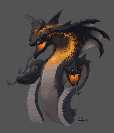 ArtStation - Unreleased Game - The Snake Level, Lia Booysen <<< amazing art Dark Creatures, Mythical Creatures Art, Mythological Creatures, Magical Creatures, Fantasy Creatures, Mystical Creatures Drawings, Monster Concept Art, Fantasy Monster, Monster Art