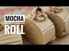 Cake Base Recipe, Mocha Recipe, Mocha Cake Filipino Recipe, Pinoy Cake Recipe, Cake Roll Recipes, Homemade Cake Recipes, Baking Recipes, Snack Recipes