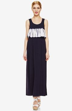 Two+by+Vince+Camuto+Tie+Dye+Border+Popover+Maxi+Dress+available+at+#Nordstrom