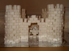 Castle made out of sugar cubes