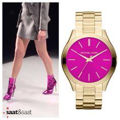 Yeni sezonun trendi elektrik pembe Michael Kors saat modelleriyle Buyaka Saat&Saat mağazasında...