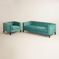 One of my favorite discoveries at WorldMarket.com: Teal Kendall Seating Collection