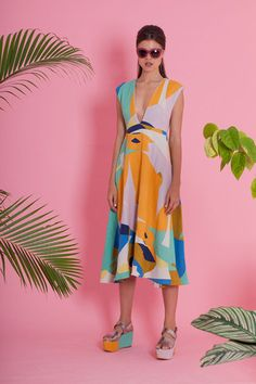 Superstition Dress - Geo Colours | State of Georgia