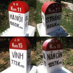 The road to Da Lat was lined with these big numbers. Kilometres to keep you going a week in any direction #longdistancecyclist #roadsignsoftheworld #happygolucky