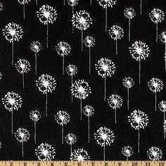 Premier Prints Small Dandelion Black/White  (To modge podge on filing cabinet, BL)